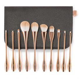 Pensule machiaj Pretty in Gold set 10