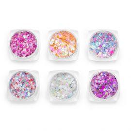 Glittere pentru fata si corp set 6 #04
