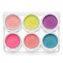 Pigmenti de unghii Neon set 6 #01