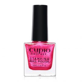 Lac de unghii pentru stampila Cupio Glitter Pink 10ml