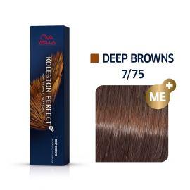 Vopsea de par Wella Professionals Koleston Perfect 7/75 Blond Mediu Maro Mahon