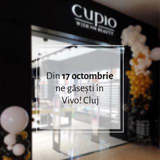 Începând de mâine, ne vedem într-o nouă locație: @vivoclujnapoca ???????????? Primii 100 de clienți primesc un ruj lichid Mattix cadou (nuanțe în limita stocului disponibil) ???????? #Cupio #CupioStore