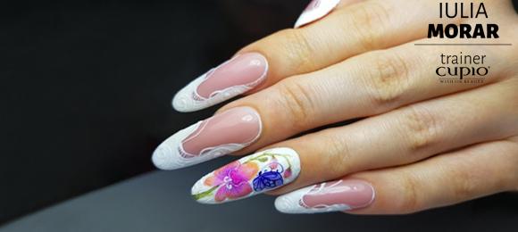 SBS: Migdală de salon cu pictură realizată cu tehnica acuarelei